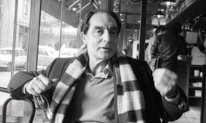 Writer Italo Calvino in a Cafe